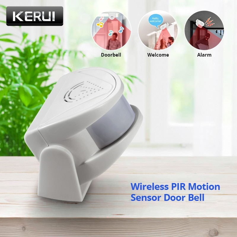KERUI M5 32 Songs Wireless PIR Motion Sensor Door Bell Shop Visitor Alert Chime Alarm Burglar Doorbell for Office/Home Security
