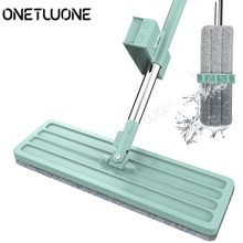 Plat MopFree main lavage 360 Spin vadrouille microfibre Pad humide et sec maison bureau outil de nettoyage, cuisine plancher propre