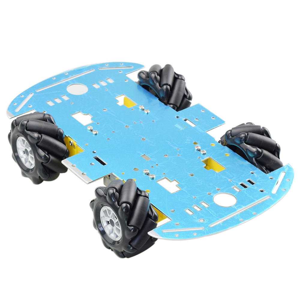 Cheapest Aluminum Mecanum Wheel Omni Robot Car Chassis Kit with 4pcs TT Motor for Arduino Raspberry Pi DIY Toy Parts Hot a group of 4 60mm 14159 mecanum wheel omni wheel robot 60 mm aluminum wheels