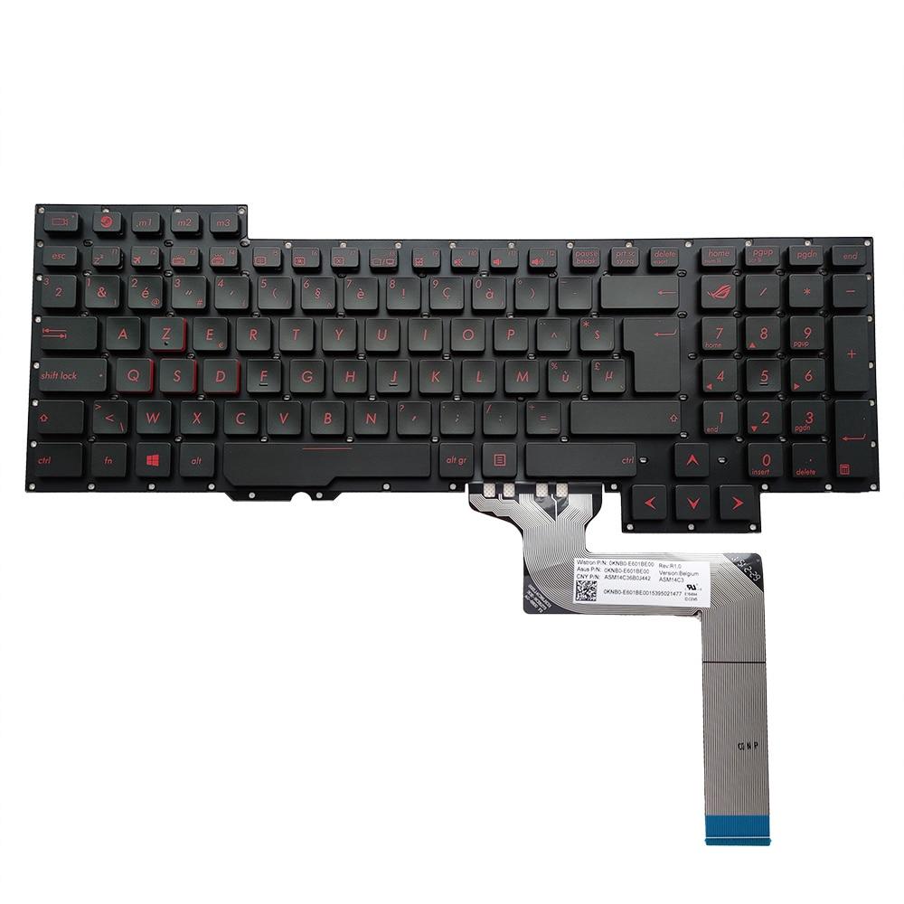 لوحة مفاتيح من في بي واي لهواتف اسوس روغ ، g751 ، g751jm ، g751jt ، g751jl ، g751jy ، لوحة مفاتيح سوداء بلجيكية ، 0knb0 و e601be00 ، جدا