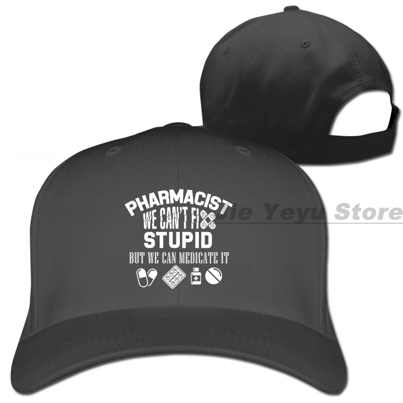 Divertido farmacéutico farmacia regalo gorra de béisbol hombres mujeres gorras de camionero moda gorra ajustable