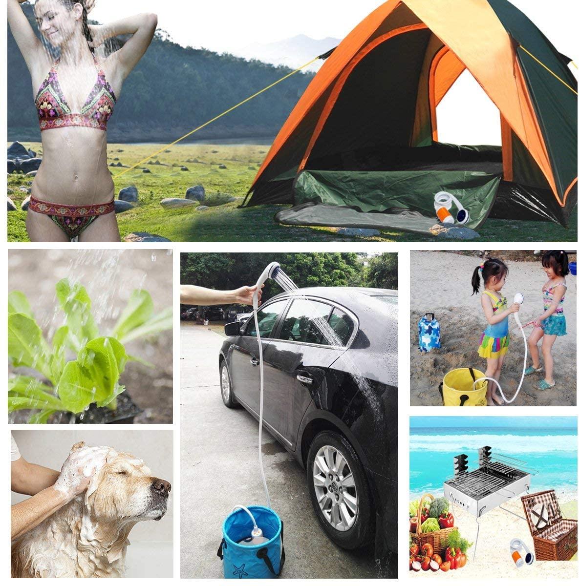 2020 New Universal Car Washer Shower Set Portable Electric Pump Outdoor Camping Travel Car Washer Hiking Pet Washer душ походный