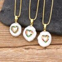 new fashion 8 styles choice turkey evil eye hamsa fatima palm cz necklace for women copper zirconia party wedding pearl jewelry