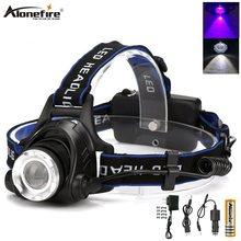 Alonefire HP79-WU многофункциональная головная лампа, светодиодная ультрафиолетовая УФ-лампа, масштабируемая фара, фонарь, фонарь