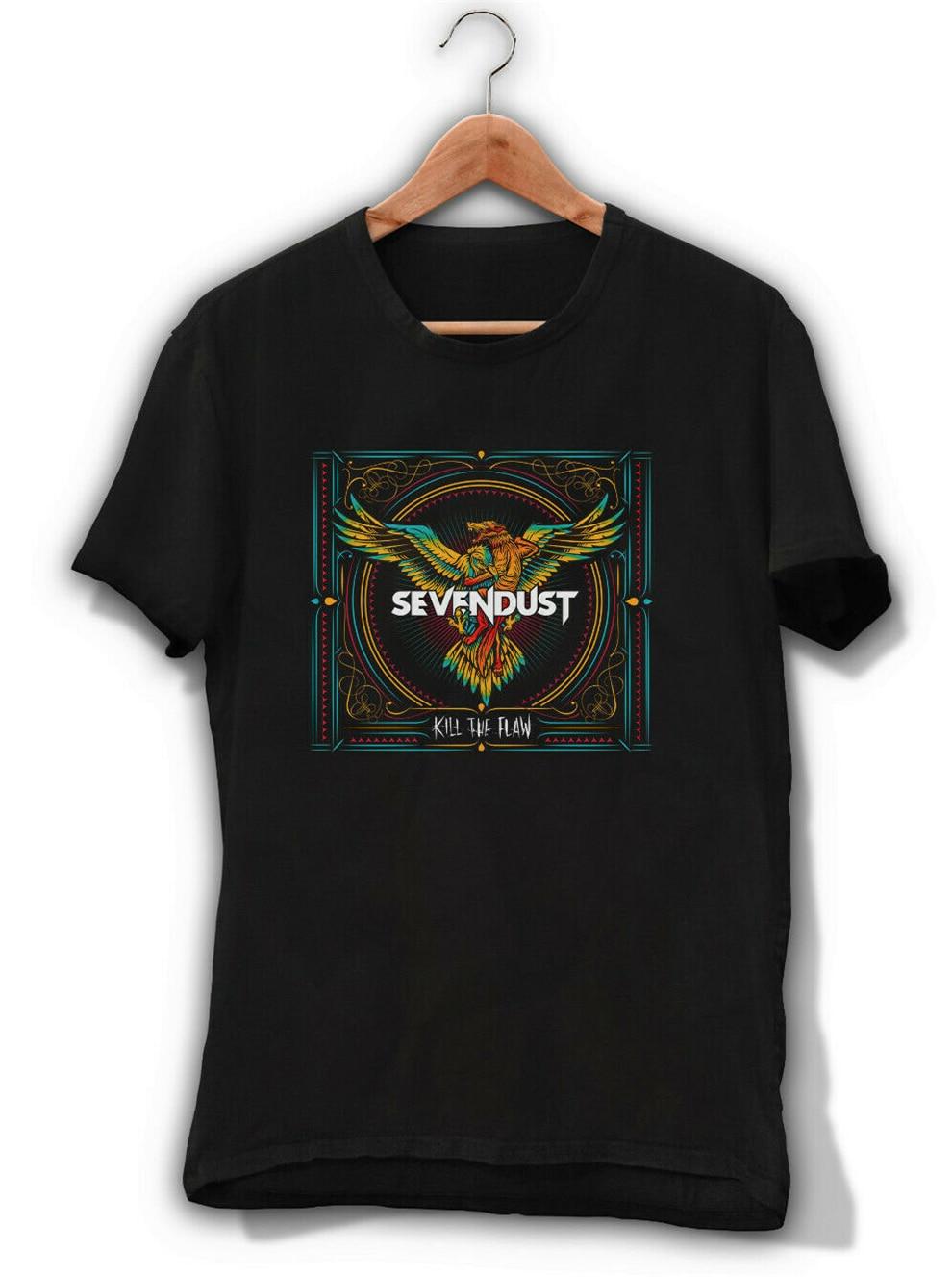 Sevendust Kill The Flaw Black T-Shirt Heavy Metal Band Tee Shirt Clutch Tremonti Classic Unique Tee Shirt