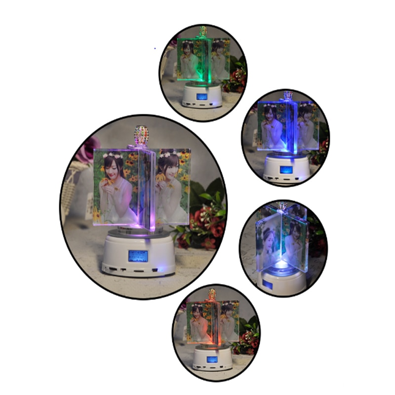 Personalized Photo Gift 4PCS Pictures Custom Bluetooth Music LED Night Light  Frame Rotate Windmill Light Lamp Christmas Gift enlarge