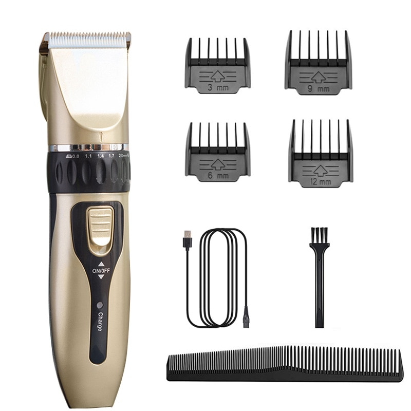 Hair Clippers for Men Cordless Hair Beard Trimmer Fine-Tuning Professional Hair Cutting Machine Kits with Comb Ceramic Blade