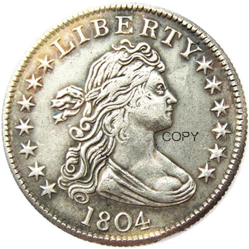 США 1890 сидя свободы кватер доллар Посеребренная копия монеты