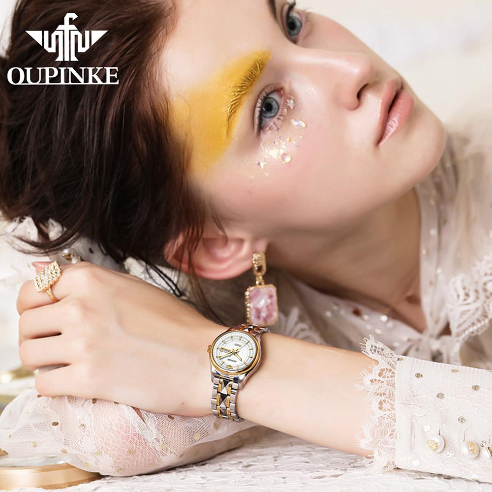 Luxury Brand Automatic Mechanical Watch For Women Stainless Steel Waterproof Ladies Watch Imported Gifts Set EU Certification enlarge