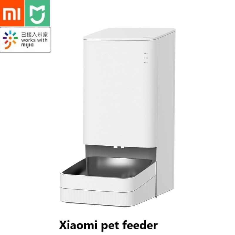 شاومي Mijia الذكية تغذية الحيوانات الأليفة التلقائي تغذية توقيت تصميم التحكم عن بعد الصوت الكمية العادية ل Mijia App الحيوانات الأليفة بتلر