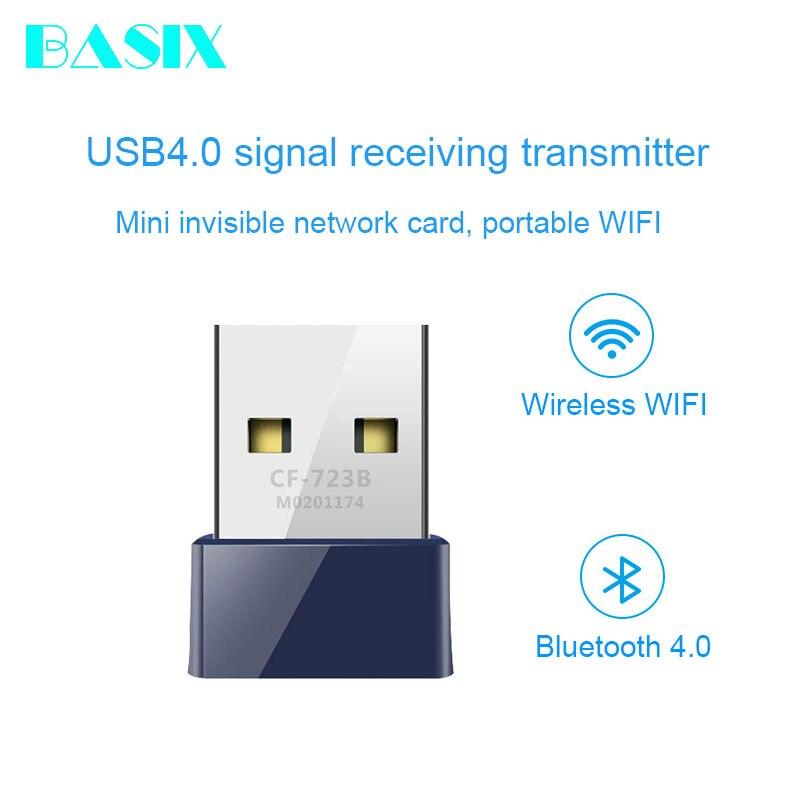 Basix Mini USB 2,0 adaptador Wifi inalámbrico 150Mbps Dongle receptor tarjeta de red LAN PC Bluetooth 4,0 recibir y transmitir CF-723B