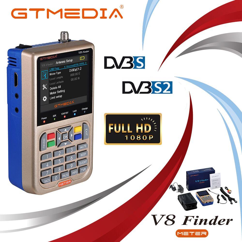 GTMEDIA V8 buscador Metro DVB-S2/S2X buscador de satélite Rusia Satelite buscador Metro completo 1080P FTA SatFinder para receptor de satélite