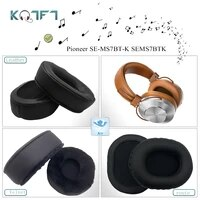 kqtft 1 pair of velvet leather replacement earpads for pioneer se ms7bt k sems7btk headset earmuff cover cushion cups