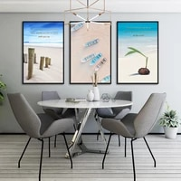 Toile de peinture a lhuile de style nordique  affiche dart Mural de plage Simple  decoration de maison et de chambre a coucher  sans cadre