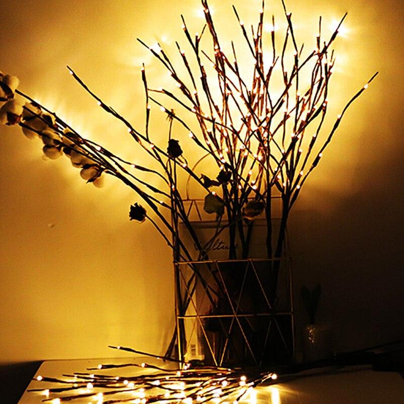 Гирлянда с 20 светодиодами в виде ветвей дерева, Рождественская сказочная Светодиодная лампа на новый год, свадьбу, фестиваль, украшение для ...
