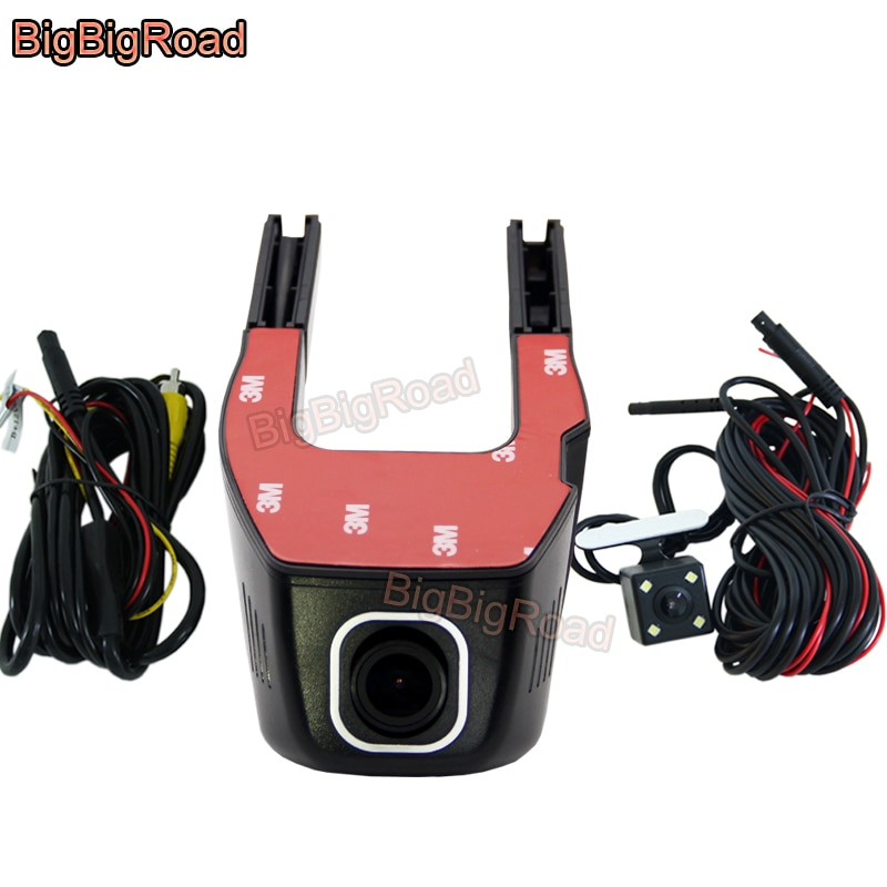 BigBigRoad Car Video Recorder Dash Cam Camera Wifi DVR For Skoda Superb Fabia Rapid Roomster Yeti Octavia 2 Karoq Kamiq GT