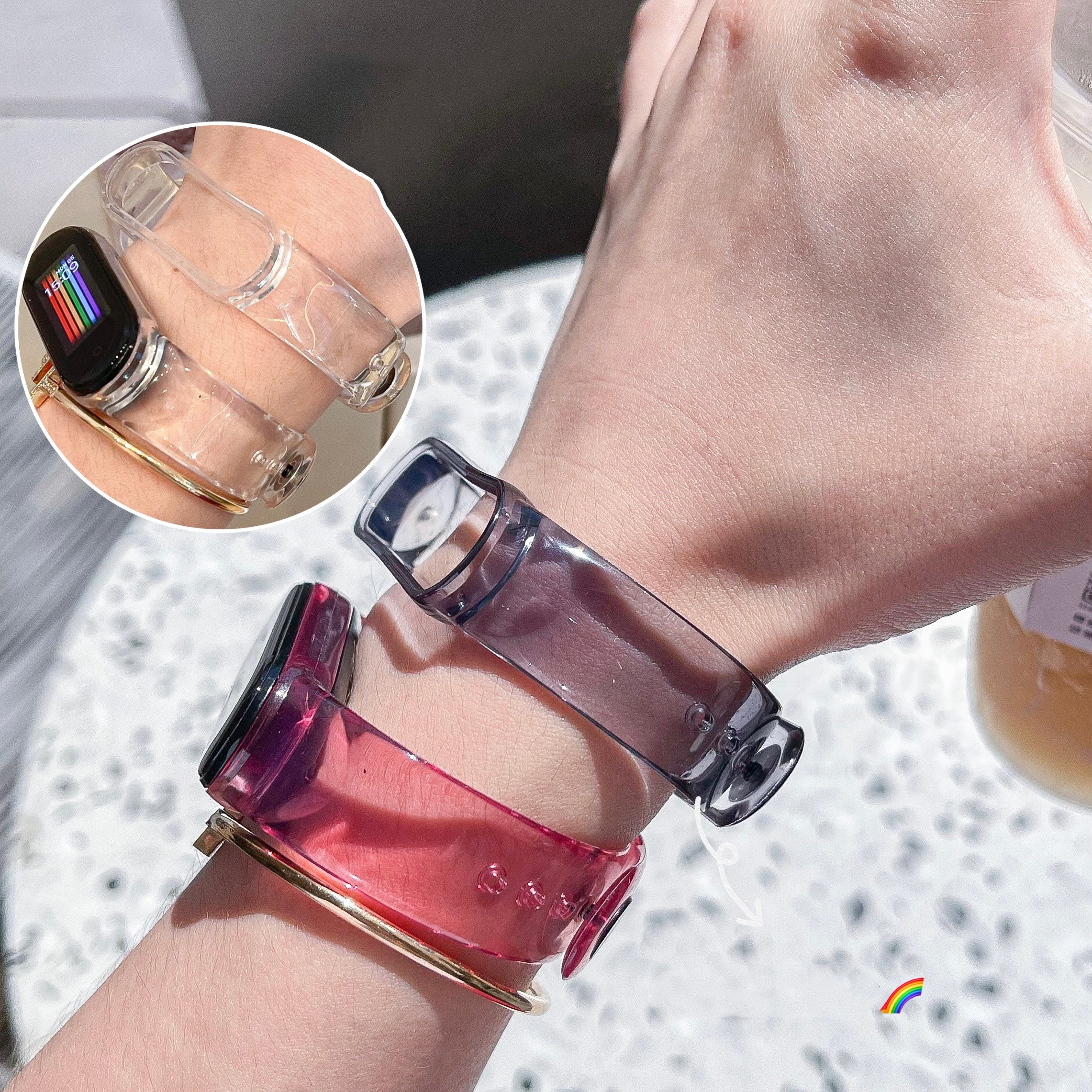 aliexpress.com - Strap For Xiaomi Mi Band 3 4 5 6 Light Change Transparent TPU Wristband Accessory Bracelet For Miband 3 4 5 6 Replacement Strap