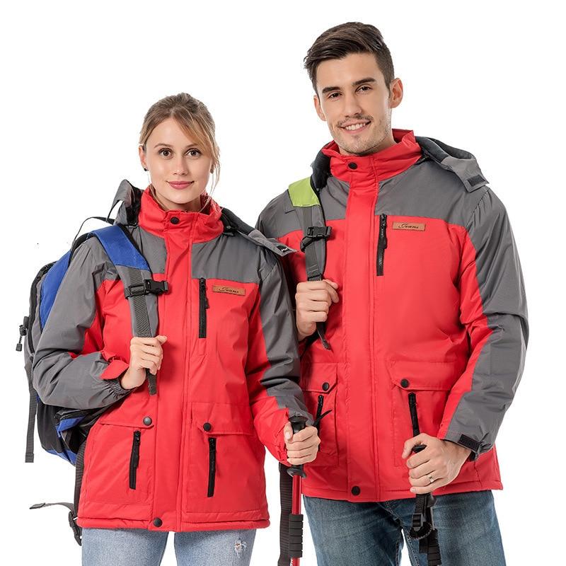 2020 Лыжная куртка мужская зимняя парка термальное флисовое пальто женские сноубордические куртки пара ветронепроницаемых водонепроницаем...