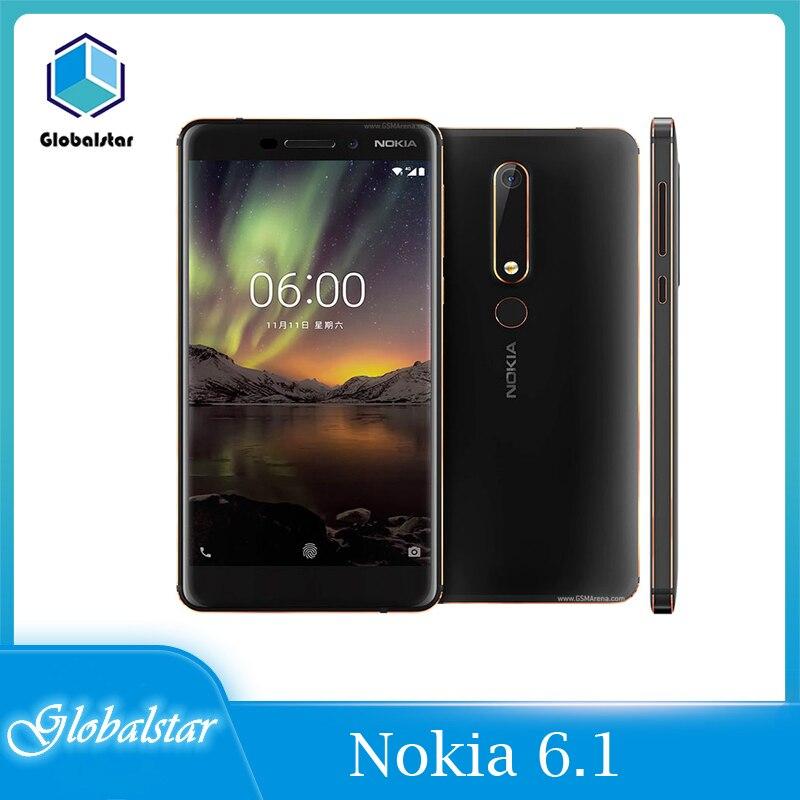 Nokia 6,1 Восстановленное Оригинальное Nokia 6,1 4G WI-FI GPS 16MP Камера 64 Гб неблокированный Android 8,1 мобильный телефон Дешевые сотовый телефон