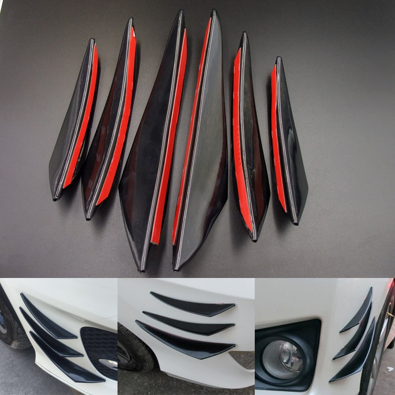 Alerón de parachoques de coche, alerón divisor para Mercedes Benz GT GLS S65 W204 Tundra W124 AMG GLE S560e CLK63 R Hyundai Solaris