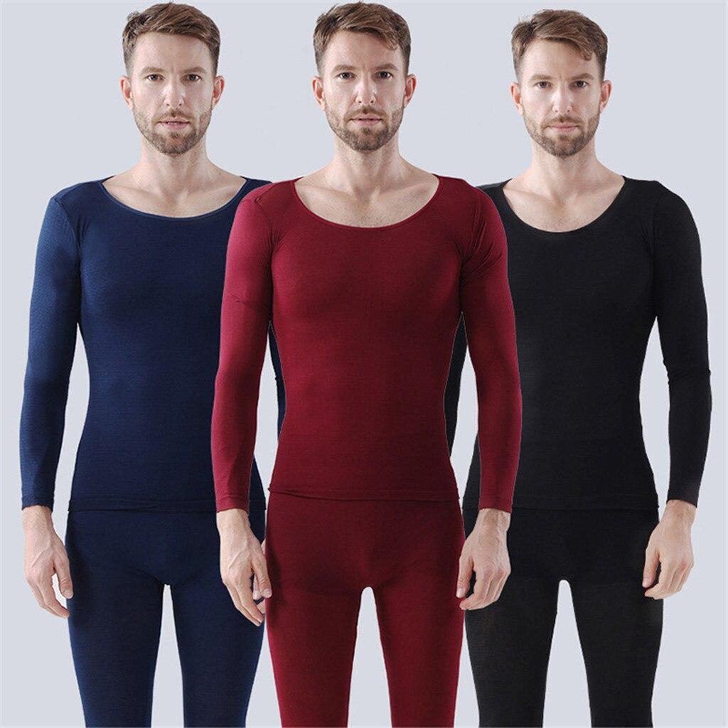 Ropa interior de invierno a la moda, ropa interior térmica elástica sin costuras para hombre y mujer, conjunto de ropa interior térmica + Pantalones 2 uds