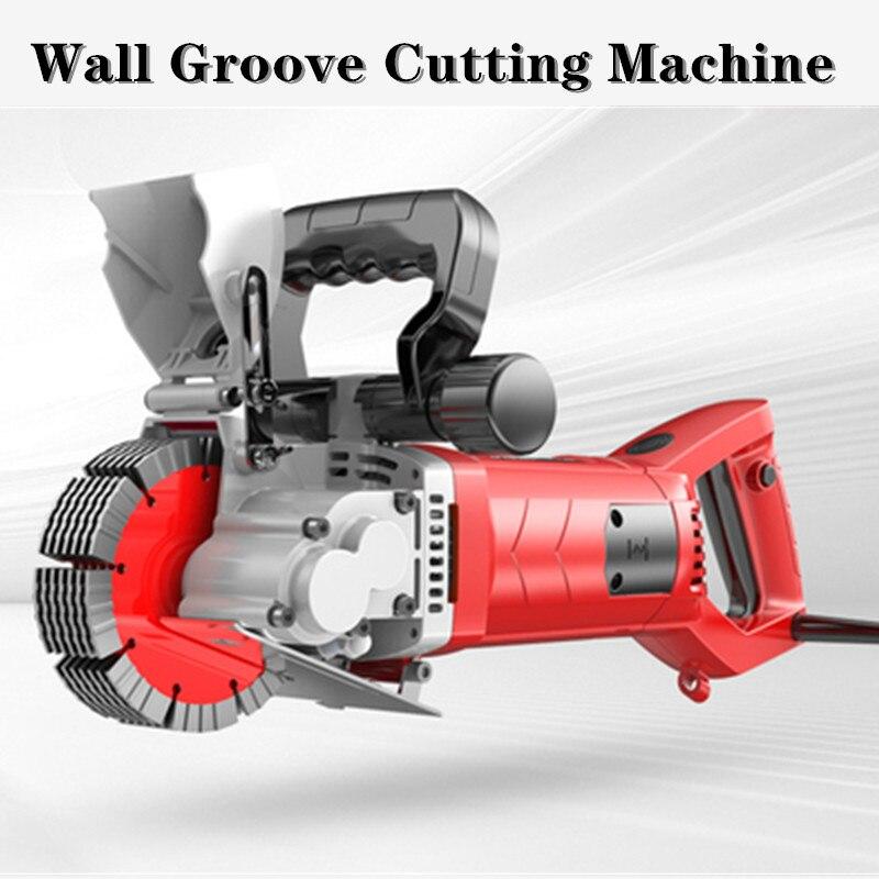 Cortadora eléctrica de la ranura de la pared del ladrillo 220V 4200-6000W cortadora de hormigón de acero ranurado máquina DIY decoración del hogar ranurado T