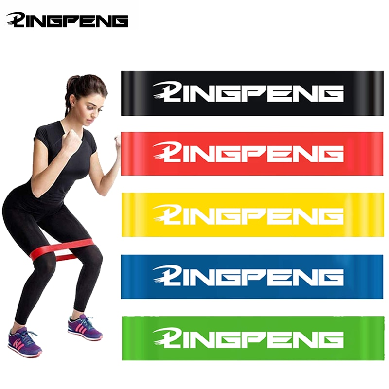 Rubber Yoga Resistance Bands 5 Level Fitness Elastic Bands Crossfit Exercise Training  At Home Workout Gym Equipment