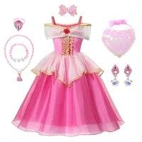 princess aurora sleeping beauty off shoulder dress for toddler girls princess kid party ball gown flower girls pageant frock
