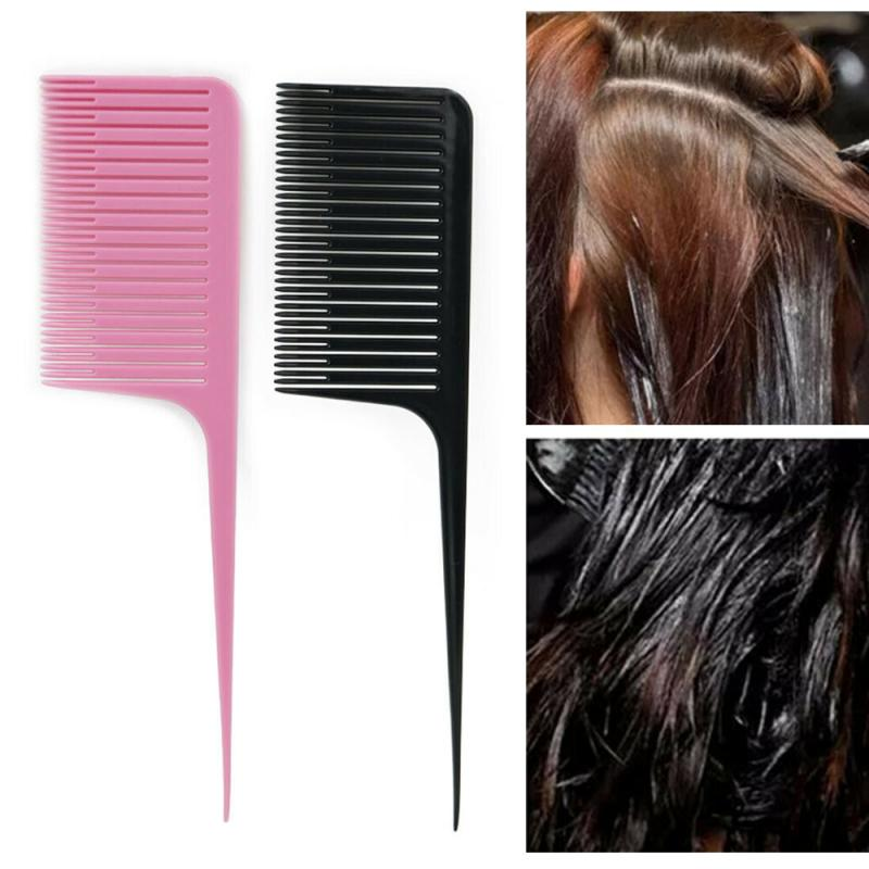 1PC Profession Dyeing Comb Weave Comb Tail Pro-hair Dyeing Comb Weaving Cutting Combs Hair Brush for