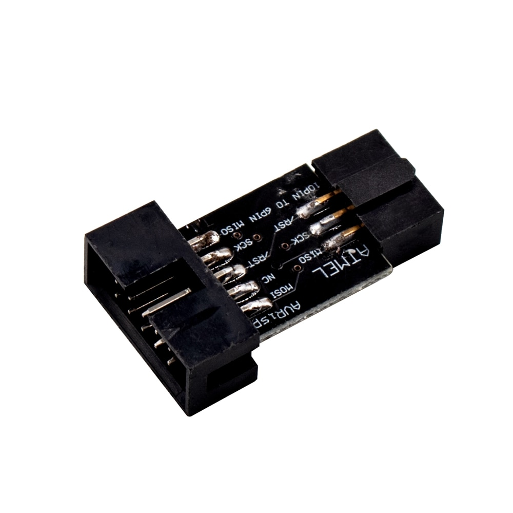 1 Uds 10 Pin a la placa adaptadora estándar de 6 pines para ATMEL AVRISP USBASP STK500