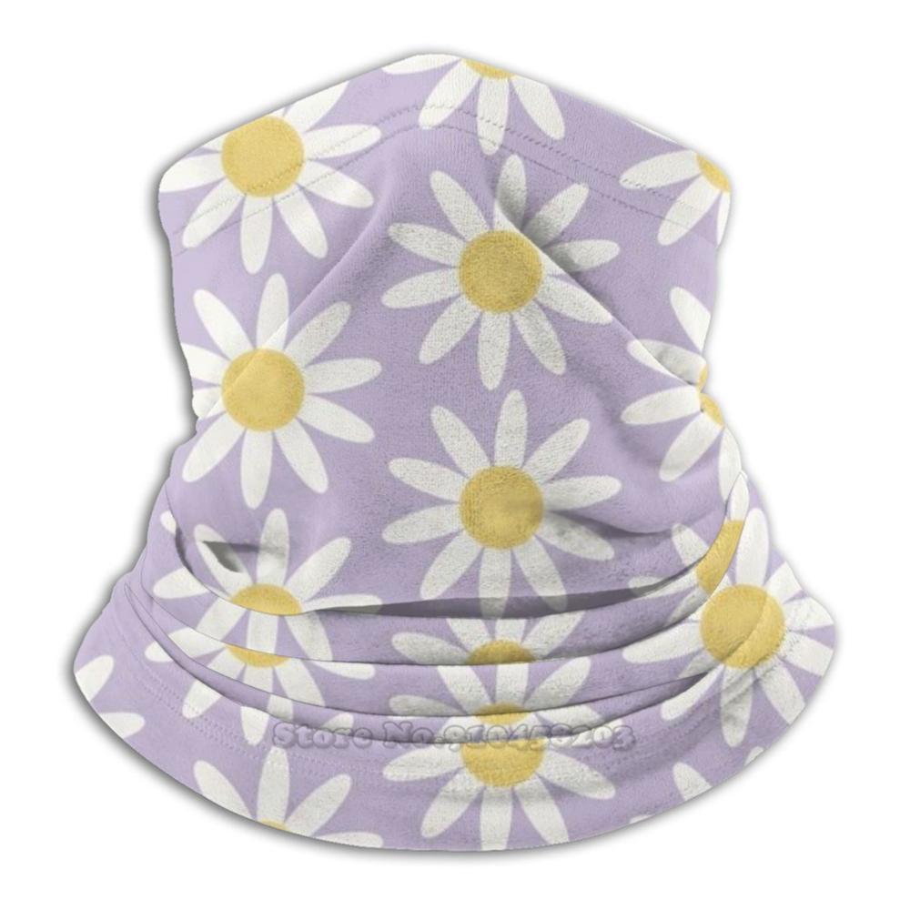 Mask - Retro Daisies Pattern On Lavender Field Bandana Scarf Mask Scarfs Neck Warmer Headwear Cold Hygiene Flu Quarantine Work