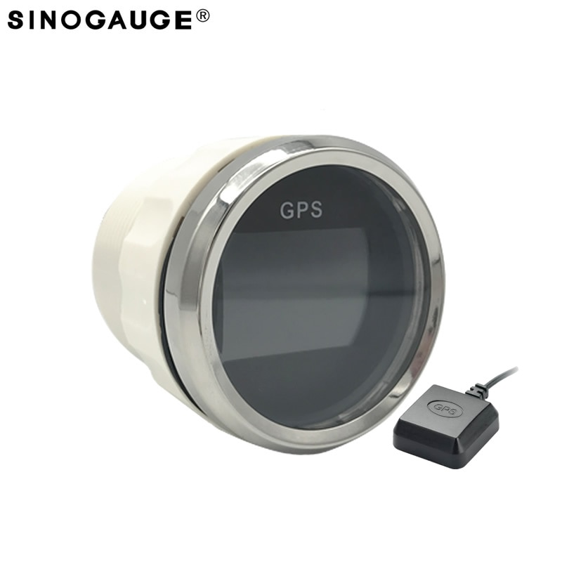 design 52mm LCD Digital GPS speedometer for motorcycle/ scooter/Truck Build in GPS sensor  - buy with discount