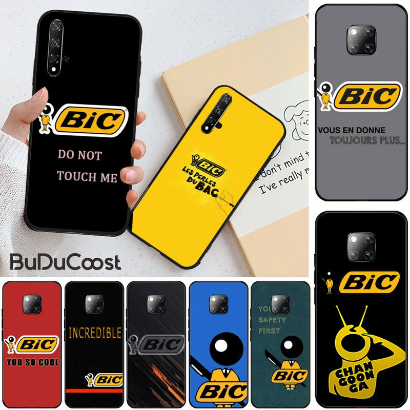 Mantrn, diseño bonito, marca BIC, funda de teléfono negra blanda para Huawei Honor 8X 9 10 20 Lite 7A 8A 5A 7C 10i 20i 9X play 8C