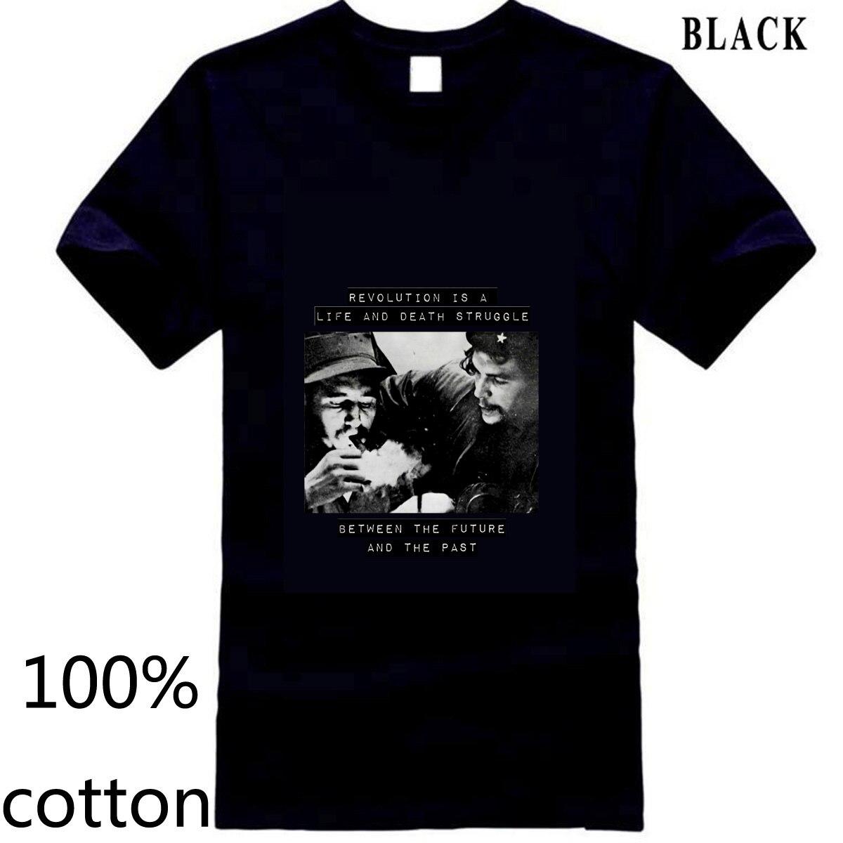 Fidel Castro Che Guevara comunista soviético BLM Black Lives Cool hombres camiseta tops camisetas 100% algodón