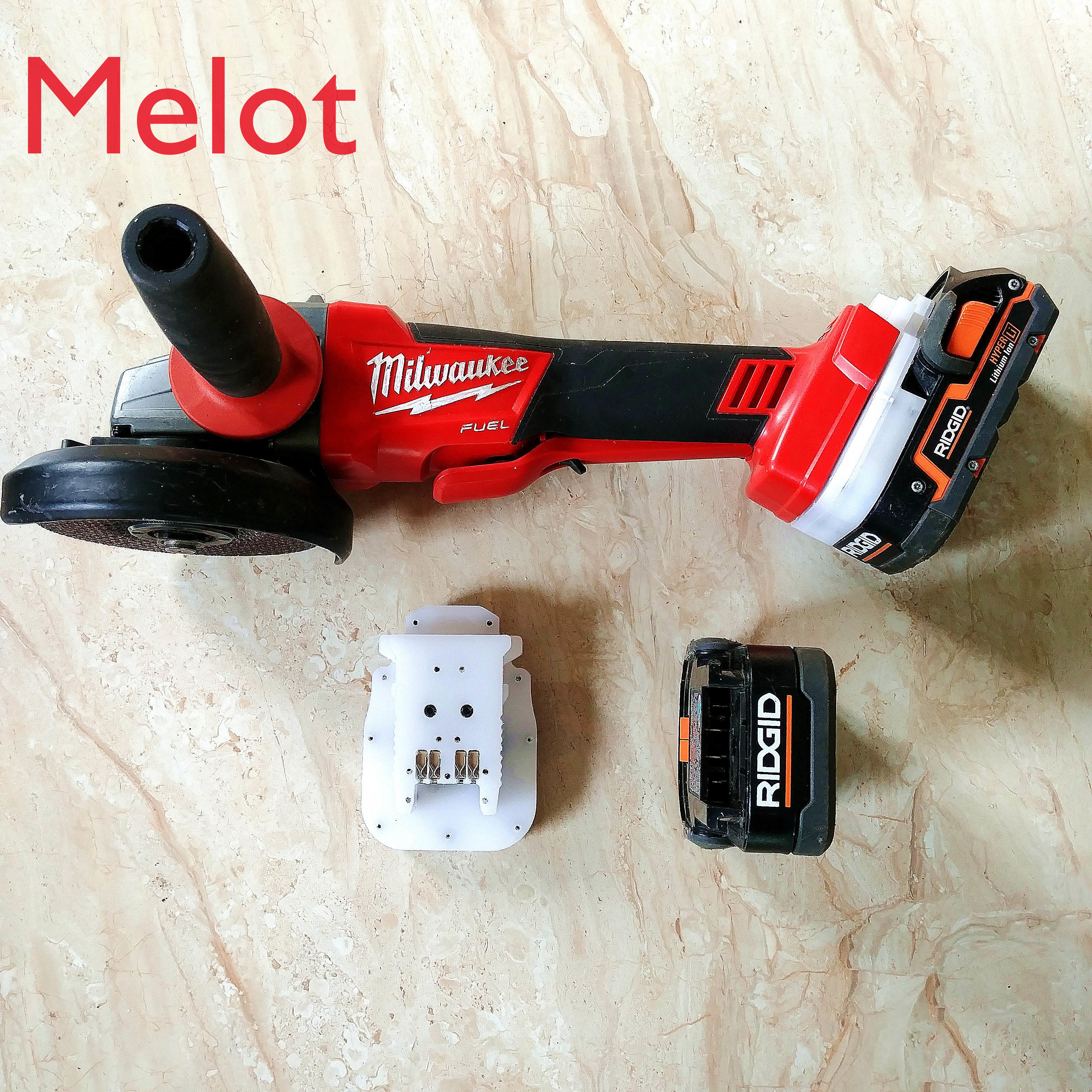 Mivoch Milwaukee tool 18V 20VLithium Battery tool Uses for DEWALT AEG  And other Battery Adapter Seat enlarge