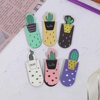 1 Set Fresh Cactus Magnetic Bookmarks Books Marker Of Page Student Stationery School Office Supply