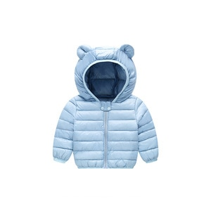 Solid Color Baby Girls Jacket Winter Child Outerwear Soft Coat For Kids Lovely Boys Girls Down Jacket 1 Piece Children Clothes