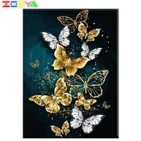 Peinture de diamant a mosaique danimaux en or et argent  broderie de papillon  bricolage complet  Art familial  decoration de la maison Sp649