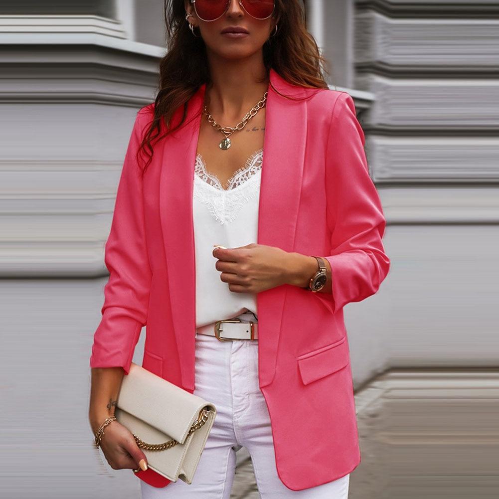 Hunter-desejo casaco feminino coat moda escritório wear básico casaco jaqueta vintage plissado manga longa bolsos outerwear feminino chiques topos