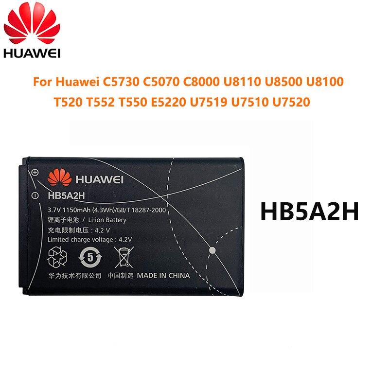 Original 1150mAh HB5A2H For Huawei C5730 C5070 C8000 U8110 U8500 U8100 T520 T552 T550 E5220 U7519 U7