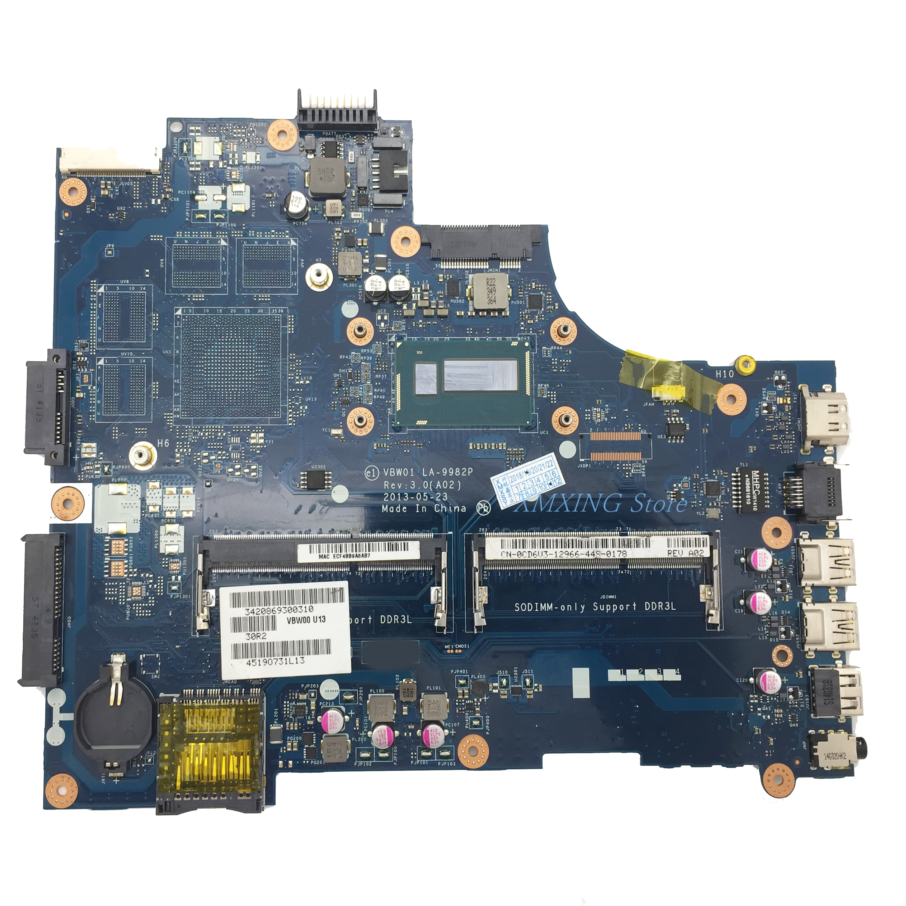 FULCOL لديل خط العرض 15R 5537 3537 اللوحة المحمول I7-4500U CPU LA-9982P CN-0CD6V3 0CD6V3 CD6V3 اختبار 100% العمل
