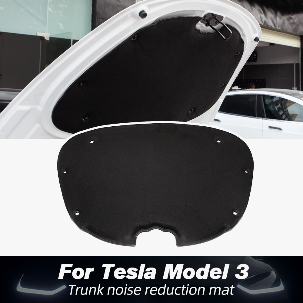 Model3 Front Trunk Soundproof Cotton For Tesla Model 3 2021 Accessories Shock Plate Sound Insulation