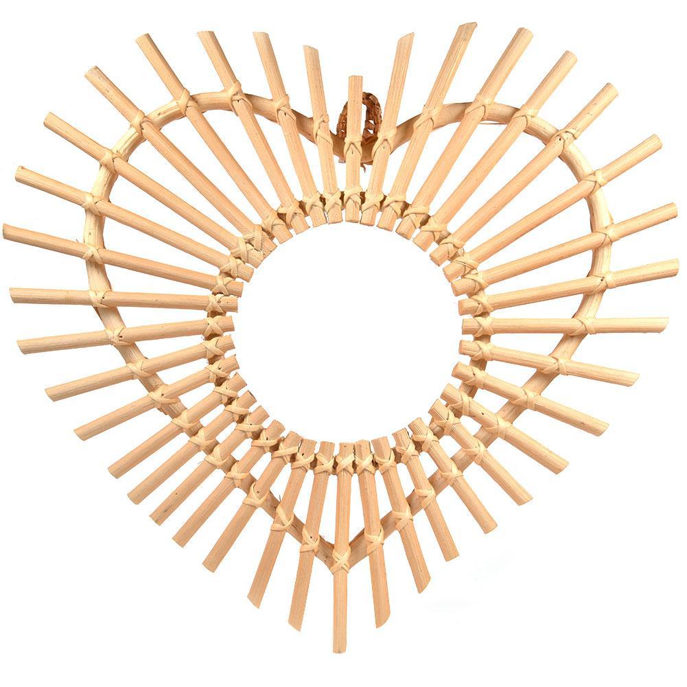 Espejo de ratán decoración de arte innovadora espejo de maquillaje redondo cuarto de baño Color principal mimbre pared colgante espejo Dropshipping