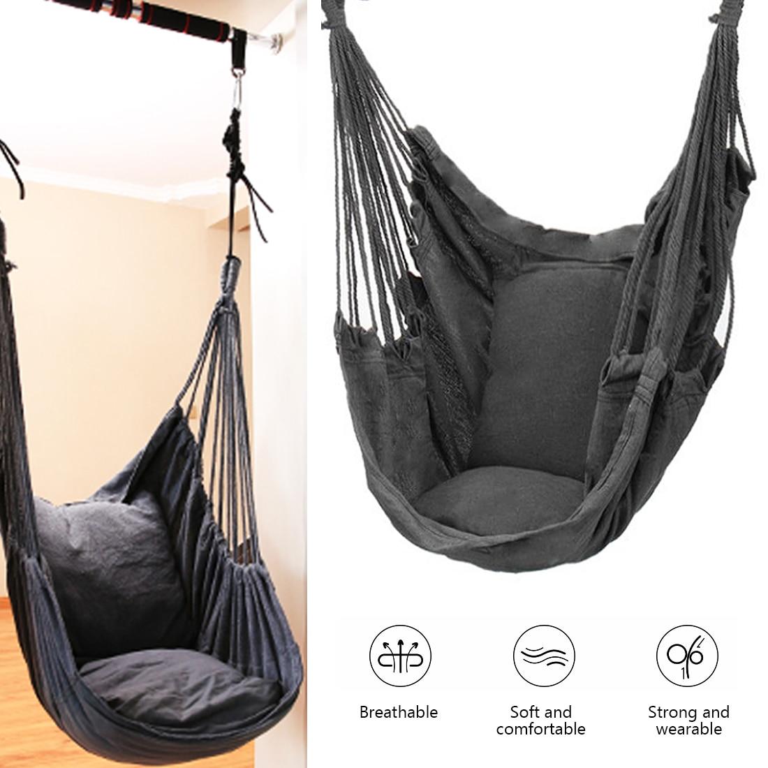 Туристический гамак, портативное качели-кресло, уличная мебель, подвесное уличное кресло с веревкой, качели для взрослых, садовая мебель, дл...