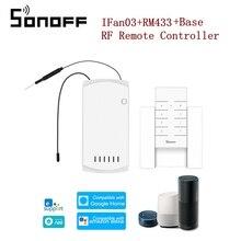 SONOFF IFan03 AC100-240V 50/60 Гц WiFi потолочный вентилятор и светильник с пультом дистанционного управления RM433