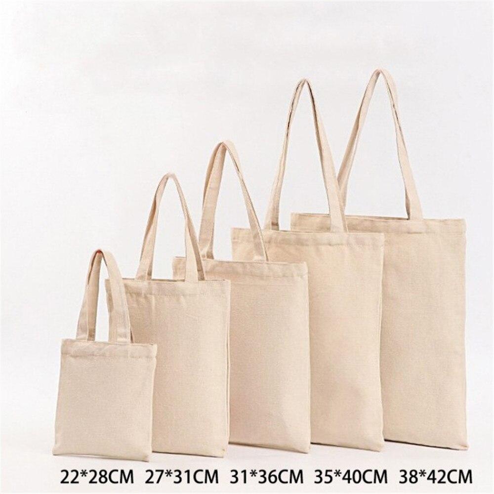 6 Sizes Shopper Tote Canvas Bag Reusable Shopping Bag Eco-friendly Cloth Bags Foldable Pouch Grocery Packages Shoulder Handbag canvas bags shopping eco reusable foldable shoulder bag handbag tote bag casual shoulder bags school travel women folding