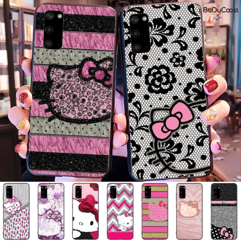 Olá Kitty Coque Shell Caixa Do Telefone Para Samsung Galaxy S9 S10 S10E S6 S7 S8 S9 S9Plus S5 S20