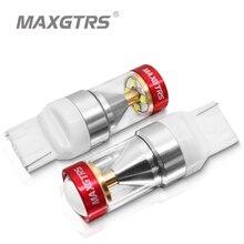 2 pièces T20 7440 W21W 7441 LED ampoules inversées clignotant Signal de stationnement pour LADA Dimension lumières ampoules Super lumineux blanc ambre DC12-24V