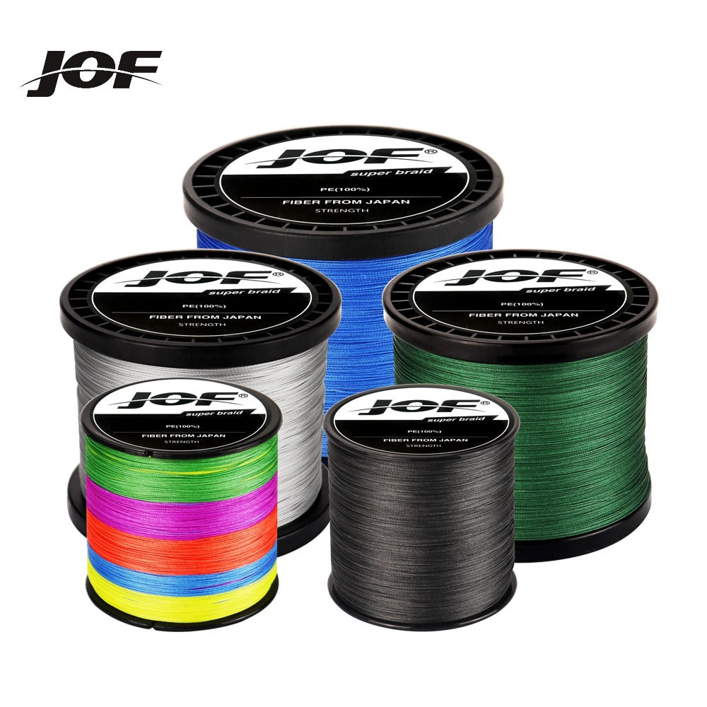 JOF 4 Strands Braided Fishing Line 300M 500M 1000M Carp Multifilament Fishing Line Japanese Braided Fishing Line Line Pe sougayilang 300m 4 strands braided fishing line 0 6 8 0 pe fishing line 6 3 32 8kg multifilament fishing line smooth pesca