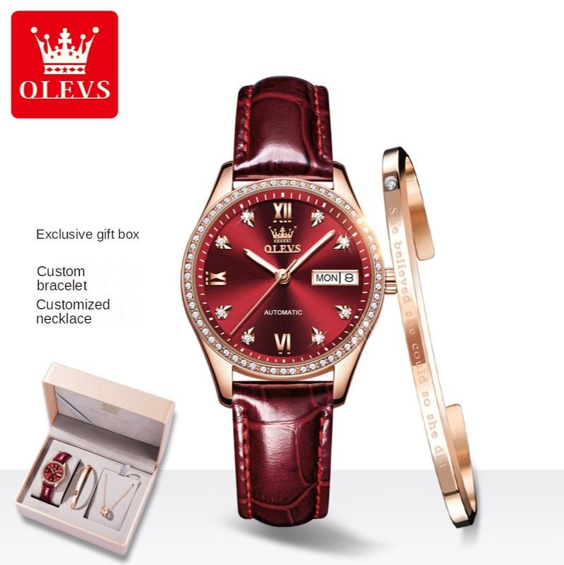 Belt Type Automatic Mechanical Watch Waterproof Women's Watch Women's Watch Gift Set enlarge